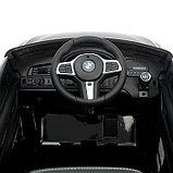 Электромобиль BMW 6 Series GT, цвет черный, EVA колеса, кожаное сидение, фото 7