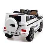 Электромобиль MERCEDES-BENZ G63 AMG, цвет белый, EVA колеса, кожаное сиденье, фото 3