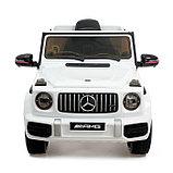 Электромобиль MERCEDES-BENZ G63 AMG, цвет белый, EVA колеса, кожаное сиденье, фото 5