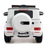 Электромобиль MERCEDES-BENZ G63 AMG, цвет белый, EVA колеса, кожаное сиденье, фото 6