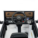 Электромобиль MERCEDES-BENZ G63 AMG, цвет белый, EVA колеса, кожаное сиденье, фото 7