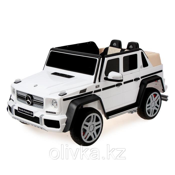 Электромобиль MERCEDES-BENZ G 650 Landaulet, EVA, кожаное сиденье, цвет белый