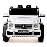 Электромобиль MERCEDES-BENZ G 650 Landaulet, EVA, кожаное сиденье, цвет белый, фото 4
