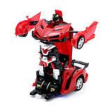 Робот радиоуправляемый «Ламбо», трансформируется с пульта, масштаб 1:18, цвет красный, фото 2