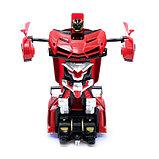 Робот радиоуправляемый «Ламбо», трансформируется с пульта, масштаб 1:18, цвет красный, фото 3