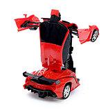 Робот радиоуправляемый «Ламбо», трансформируется с пульта, масштаб 1:18, цвет красный, фото 4