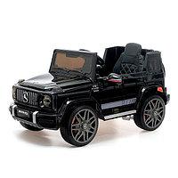 Электромобиль MERCEDES-BENZ G63 AMG, цвет глянец черный, EVA колеса, кожаное сидение