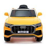 Электромобиль Audi Q8, EVA колеса, кожаное сидение, цвет оранжевый, фото 4