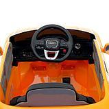 Электромобиль Audi Q8, EVA колеса, кожаное сидение, цвет оранжевый, фото 6