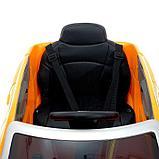 Электромобиль Audi Q8, EVA колеса, кожаное сидение, цвет оранжевый, фото 7