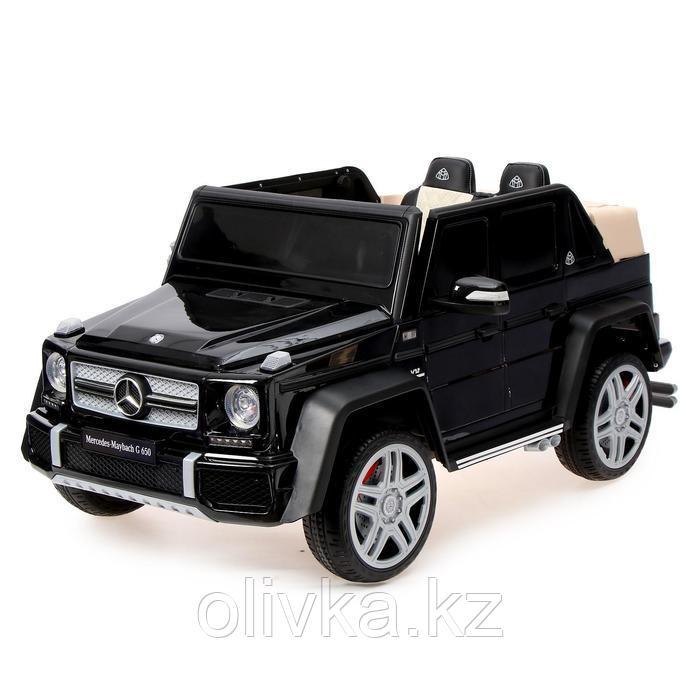 Электромобиль MERCEDES-BENZ G 650 Landaulet, EVA, кожаное сидение, цвет чёрный глянец