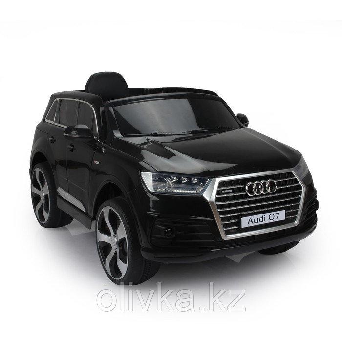 Электромобиль AUDI Q7, EVA колёса, кожаное сиденье, цвет чёрный глянец