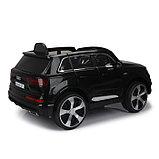 Электромобиль AUDI Q7, EVA колёса, кожаное сиденье, цвет чёрный глянец, фото 3