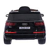Электромобиль AUDI Q7, EVA колёса, кожаное сиденье, цвет чёрный глянец, фото 5