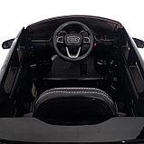 Электромобиль AUDI Q7, EVA колёса, кожаное сиденье, цвет чёрный глянец, фото 6