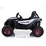 Электромобиль «БАГГИ», полный привод 4WD, кожаное сидение, цвет белый, фото 2