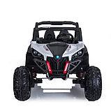 Электромобиль «БАГГИ», полный привод 4WD, кожаное сидение, цвет белый, фото 4