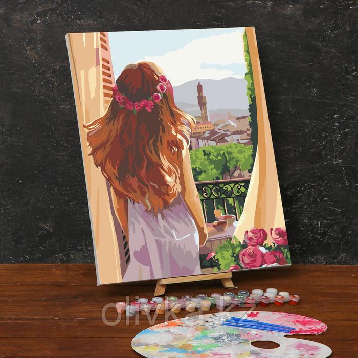 Картина по номерам на холсте с подрамником «Утро в Италии» 40х50 см