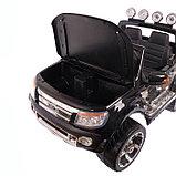 Электромобиль FORD RANGER, цвет чёрный, EVA колёса, кожаное сидение, фото 2