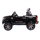 Электромобиль FORD RANGER, цвет чёрный, EVA колёса, кожаное сидение, фото 4