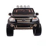 Электромобиль FORD RANGER, цвет чёрный, EVA колёса, кожаное сидение, фото 5