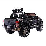 Электромобиль FORD RANGER, цвет чёрный, EVA колёса, кожаное сидение, фото 7