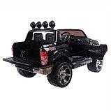Электромобиль FORD RANGER, цвет чёрный, EVA колёса, кожаное сидение, фото 8