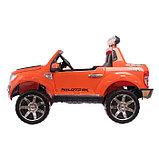 Электромобиль FORD RANGER, цвет оранжевый, EVA колёса, кожаное сиденье, фото 2