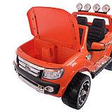 Электромобиль FORD RANGER, цвет оранжевый, EVA колёса, кожаное сиденье, фото 3