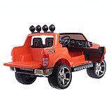 Электромобиль FORD RANGER, цвет оранжевый, EVA колёса, кожаное сиденье, фото 6