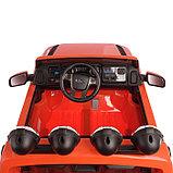 Электромобиль FORD RANGER, цвет оранжевый, EVA колёса, кожаное сиденье, фото 8