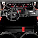 Электромобиль «БАГГИ», максимальная нагрузка 100 кг, АКБ 24V, кожаное сидение, цвет красный, фото 6