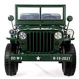 Электромобиль «Армейский джип», 3-х местный, 4WD полный привод, EVA колеса, цвет зелёный, фото 5