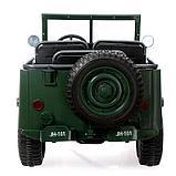 Электромобиль «Армейский джип», 3-х местный, 4WD полный привод, EVA колеса, цвет зелёный, фото 6