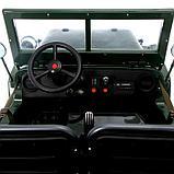 Электромобиль «Армейский джип», 3-х местный, 4WD полный привод, EVA колеса, цвет зелёный, фото 8
