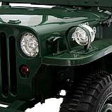 Электромобиль «Армейский джип», 3-х местный, 4WD полный привод, EVA колеса, цвет зелёный, фото 10