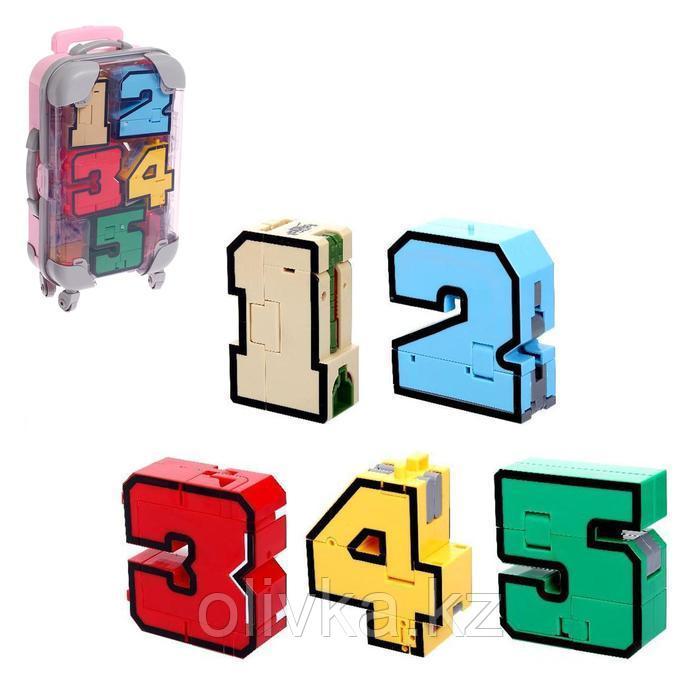 Игровой набор «Робоцифры», трансформируется, в чемодане от 1 до 5