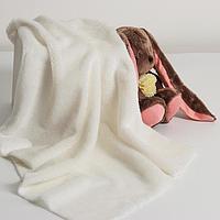 Лоскут для рукоделия, мех, на трикотажной основе, 50х50 см, цвет белый