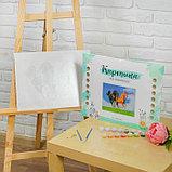 Роспись по номерам без подрамника «Лошади», 40 х 30 см, фото 4
