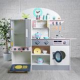 Игровой набор «Кухонный модуль «Счастье»» с деревянной посудой, фото 3
