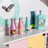Игровой набор «Кухонный модуль «Счастье»» с деревянной посудой, фото 4