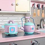 Игровой набор «Кухонный модуль «Счастье»» с деревянной посудой, фото 5