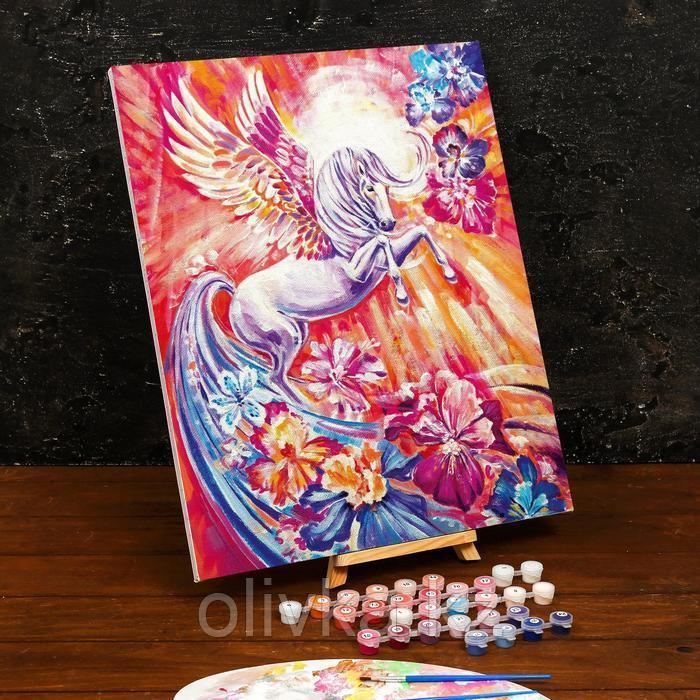 Картина по номерам на холсте с подрамником «Волшебный пегас» 40×50 см