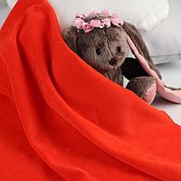 Отрез трикотажный для рукоделия, велюр, цвет красный, 45 × 50 см