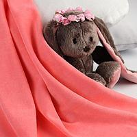 Отрез трикотажный для рукоделия, велюр, цвет розовый, 45 × 50 см
