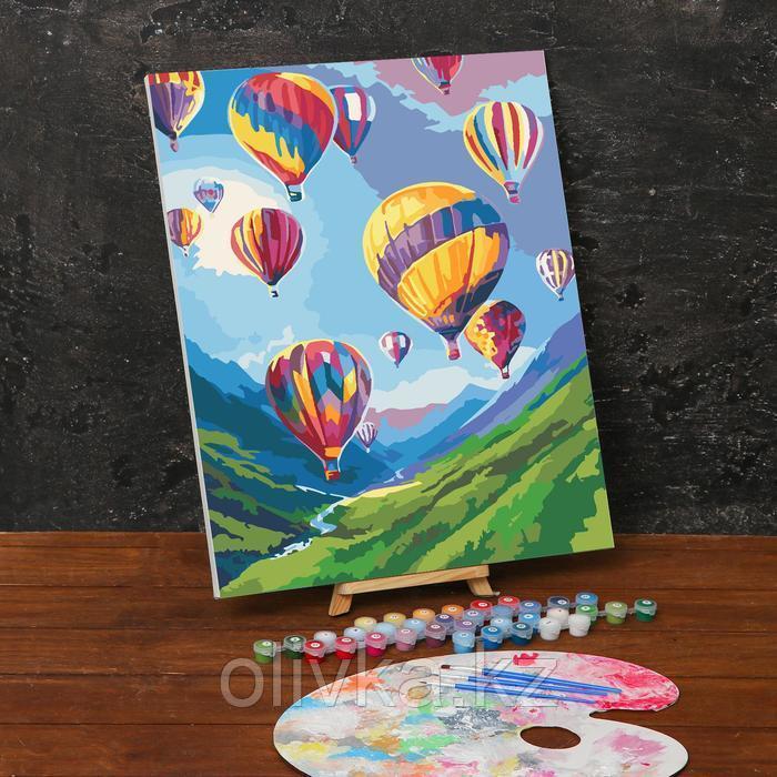 Картина по номерам на холсте с подрамником «Воздушные шары» 40х50 см