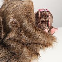 Лоскут для рукоделия, 50х50 см, мех длинноворсовой на трикотажной основе, цвет меланж