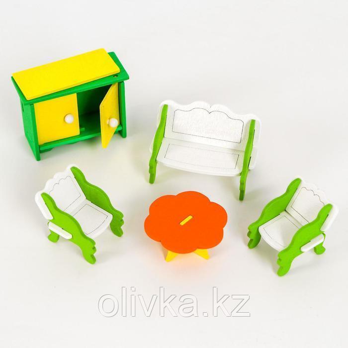 Мебель для кукол «Гостиная» + куколка в подарок - фото 2
