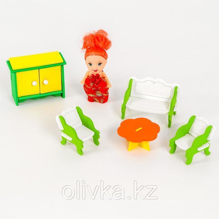 Мебель для кукол «Гостиная» + куколка в подарок - фото 3