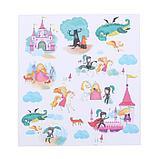 Бумага для скрапбукинга «Мир принцессы», 20 × 21,5 см, 180 г/м, фото 2